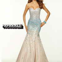 Sweetheart Beaded Mermaid Paparazzi Prom Dress By Mori Lee 97050