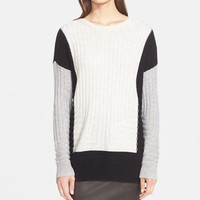 Women's Vince Colorblock Intarsia Crewneck Sweater,