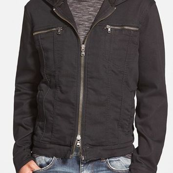 Men's John Varvatos Star USA Hooded Denim Jacket,