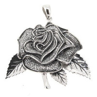 Grateful Dead, Sterling Silver American Beauty Rose Pendant