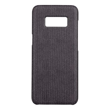 Modern Abstract Grey Linen Pattern Fabric Case-Mate Samsung Galaxy S8 Case