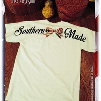 """On Sale NEW """"Merican Bow Flag"""" Southern Made Pocket Short Sleeve Tee Shirt"""