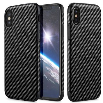 Carbon Fiber Case For iPhone x  Thin Back Soft Cover for iPhone x case Silicon TPU Accessories
