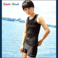 VONE05L Geminbowl Swimsuit Slim Tomboy Les swimwear with Chest Binder Flat trunks girl lesbian Corset Breathable Undershirt Vest women