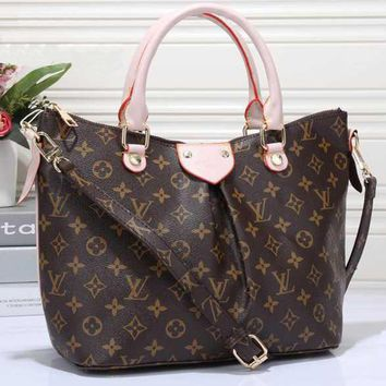 LV Women Shopping Leather Tote Crossbody Satchel Shoulder Bag-7