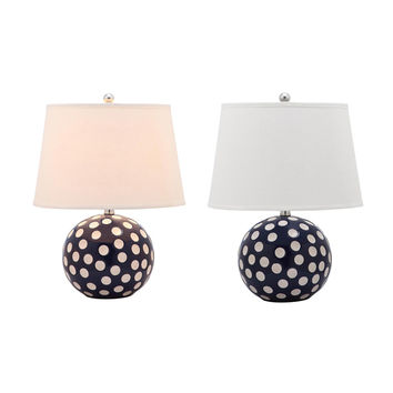 Safavieh Polka Dot Circle Table Lamps (Set of 2)
