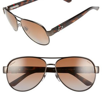 58mm Aviator Sunglasses Gucci