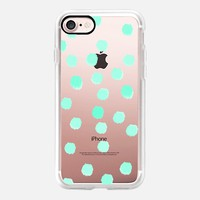 Aqua Dots - Transparent/Clear Backround iPhone 7 Case by Lisa Argyropoulos | Casetify
