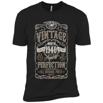Vintage Made In 1940 Birthday Gift Idea T Shirt