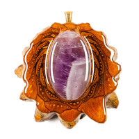 Amethyst (Large) Third Eye Pinecone Talisman Necklace