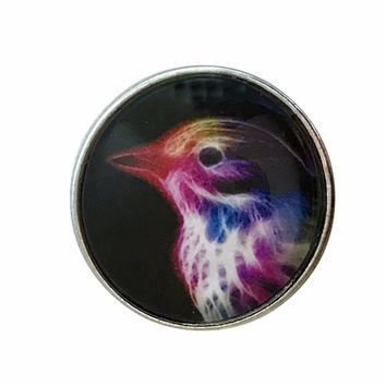 Painted Bunting Bird 20mm Snap for Snap Jewelry