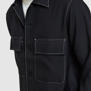 Maiden Noir / Poly Contrast Shirt Jacket