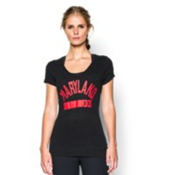Under Armour Women's UA Charged Cotton Tri-Blend Maryland V-Neck