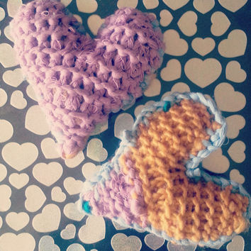 Mini Handmade Knitted Hearts, Gift for her, Gift for Him, Valentine's Day, Mother's Day, Father's day, boyfriend gift, girlfriend gift