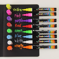 1pcs Liquid Chalk Marker Pens Erasable Multi Colored Highlighters LED Writing Board Glass Window Art 8 Colours Marker Pens