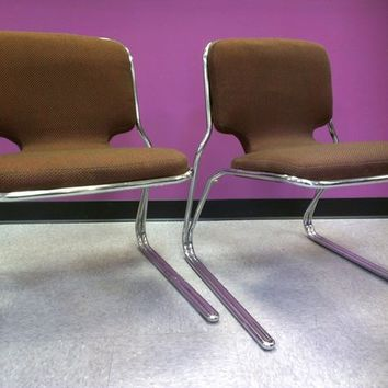 Mid Century Vintage Italian Cantilever Chairs
