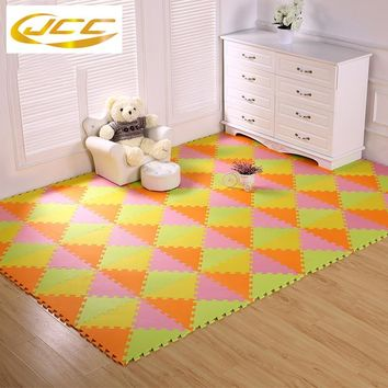 JCC 24-96pcs/lot! baby Foam play puzzle floor mat, triangle Interlocking Exercise Gym Rug carpet Protective Tile for kids