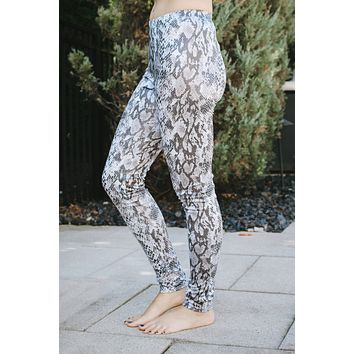 Shiny Snake Skin Leggings