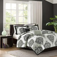 Intelligent Design Sydney Comforter Set (Black)