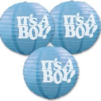 Baby Shower Supplies It's A Boy! Paper Lanterns - 18 units