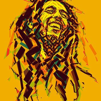 Pop Art Jamaica Reggae Bob Marley Rock Music Retro Vintage Kraft Poster Canvas DIY Wall Sticker Home Bar Posters Decoration