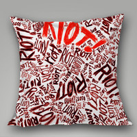 Paramore Riot Quote Colorfull Romantic on Decorative Pillow Covers