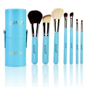 Light Blue Brush Set With Case