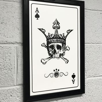 Ace of Spades Art Print / Poster - 13x19""