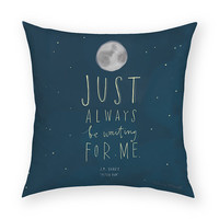 "Peter Pan by Artist Emily McDowell 18""x18"" Artistic Throw Pillow"