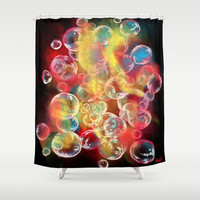DreamBubbles Shower Curtain by DizzyNicky