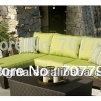 2017 Garden furniture lounge chaise chair double sofa set SGJ-130213A