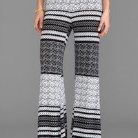 Blue Life Bell Bottom Pants in Aztec Stripe