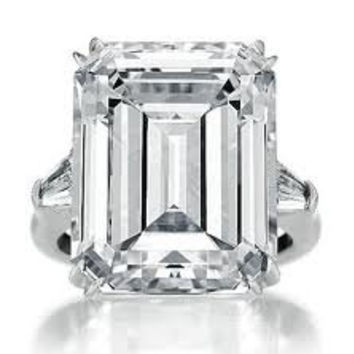Emerald Cut Diamond 11.82ct F-VS1 Platinum Diamond Engagement Ring GIA certified BLUERIVER47 Fine Jewelry on Etsy 1 of 3 Payments