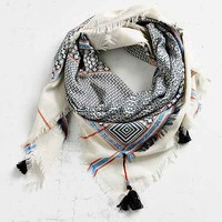 Ecote Double Layer Tassel Scarf