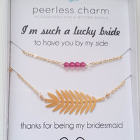 Customize Your Bridesmaid Thank You Necklace