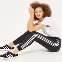 Three Stripe Cuffed Joggers by adidas Originals | Topshop