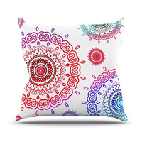 "Monika Strigel ""Rainbow Infinity"" Throw Pillow"