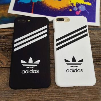 LMFONPR Hot Sports Adidas Hard Cover Case For Iphone 6 6s Plus & 7 7 Plus +Gift Box