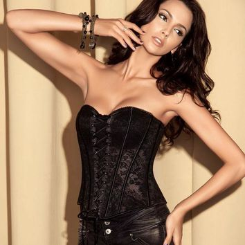 Waist Sexy Shaper Body Zippers Lace Cup Palace Corset [4965274948]