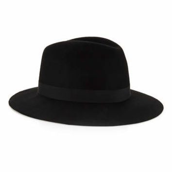 Black Wool Puritan Hat