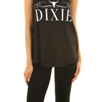 Dixie black tank top from Music City Pretty Boutique