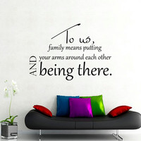 Wall Decal Quote To Us Family Means Modern Interior Design Wall Decals Bedroom Living Room Dorm Kids Window Vinyl Stickers Home Decor 3963