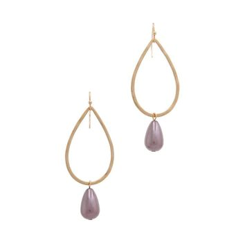 Teardrop Shape Bead Dangle Drop Earring