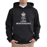 Keep calm and love Montenegro Hoodie