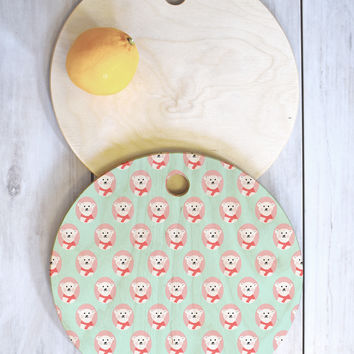 Allyson Johnson Polar Bears Cutting Board Round