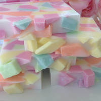Spring Meadow Confetti Soap - handcrafted glycerin soap