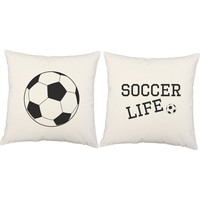 Soccer Life Throw Pillows