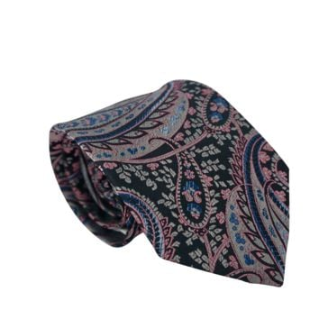 Self-Made (Grey & Pink) Paisley Neck Tie