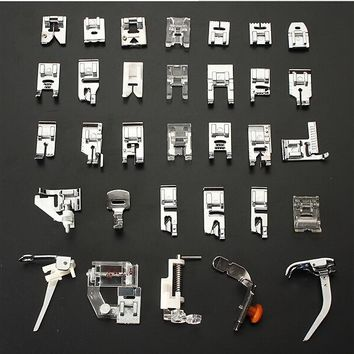 32PCS Sewing Machine Foot Feet Presser For Brother Janome Yokoyama Juki Multifunctional Sewing Machine Parts
