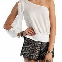 one-shoulder-cropped-top BLACK WHITE - GoJane.com
